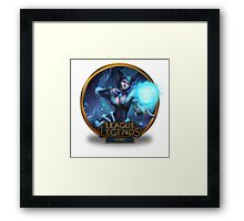 Ahri Midnight Chinese - League of Legends Framed Print