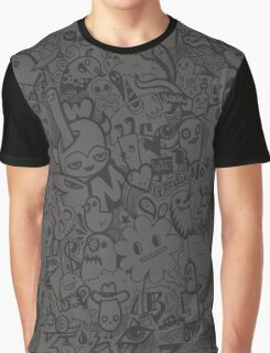 Fading Doodles Graphic T-Shirt