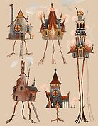 Baba Yaga Houses by cy-lindric