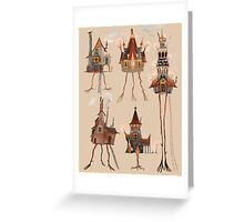 Baba Yaga Houses Greeting Card