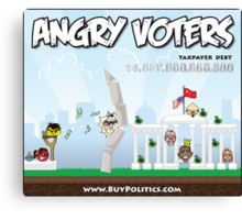 Angry Voters Canvas Print