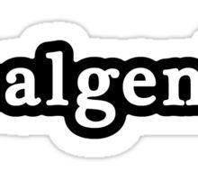 Real Genius - Hashtag - Black & White Sticker