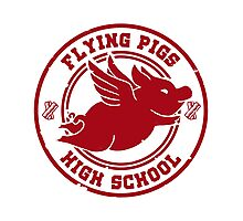 Flying Pigs Photographic Print