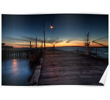 San Remo pier at sunset Poster
