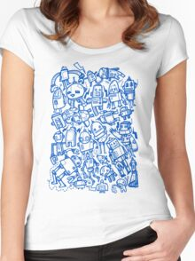 Lots of Robots Women's Fitted Scoop T-Shirt