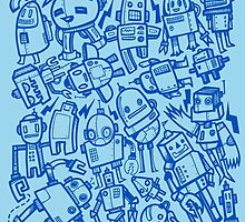 Lots of Robots by wottoart