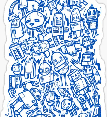 Lots of Robots Sticker
