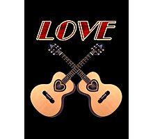 Love Acoustic Guitars Photographic Print