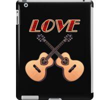 Love Acoustic Guitars iPad Case/Skin