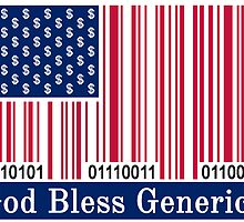 God Bless Generica Flag by Generica