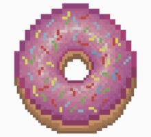 Pixel Pink Frosted Sprinkled Donut Kids Tee