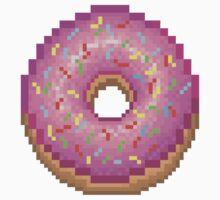 Pixel Pink Frosted Sprinkled Donut Kids Clothes