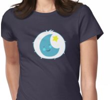 Bedtime Bear - Carebears - cartoon logo Womens Fitted T-Shirt