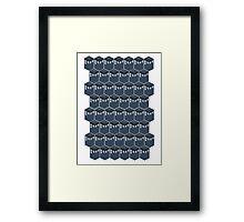 Timey-Wimey Tessellation Framed Print