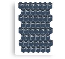 Timey-Wimey Tessellation Canvas Print