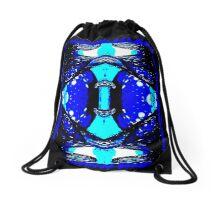 Blue Field Drawstring Bag