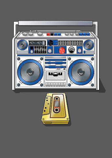 Retro Star Wars Boom box/Ghetto Blaster R2-D2 C-3PO by Creative Spectator