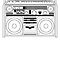 Retro Boom box/Ghetto Blaster  by Creative Spectator
