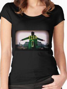 Sherlock 221B  Women's Fitted Scoop T-Shirt