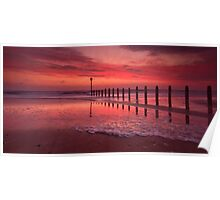 Fiery, The Angels Rose - Blyth Beach Poster