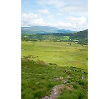 hikers route with mountain view Photographic Print