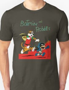 Calvin and Hobbes as Batmin and Robbes T-Shirt