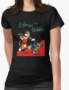 Calvin and Hobbes as Batmin and Robbes Womens T-Shirt
