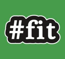 Fit - Hashtag - Black & White Baby Tee