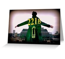 Sherlock 221B  Greeting Card