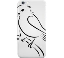 A cute abstract kingfisher sitting on a branch  iPhone Case/Skin