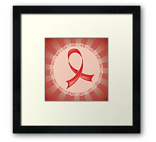 Awareness Red Ribbon Framed Print
