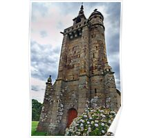 Historical Roman Church in Brittany Poster
