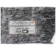 Twickenham flood marker Poster