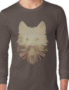 Autumn cubist wolf Long Sleeve T-Shirt