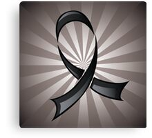 Black Ribbon Canvas Print