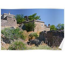 Historical Houses At Behramkale  / ASSOS – Turkey Poster