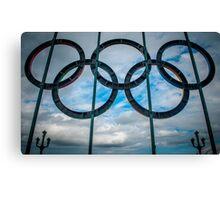 Tyne Bridge Olympic Rings Canvas Print