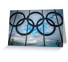 Tyne Bridge Olympic Rings Greeting Card