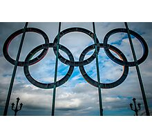 Tyne Bridge Olympic Rings Photographic Print