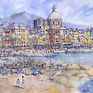 Panoramica del lungomare di Genova Pegli by Luca Massone  disegni
