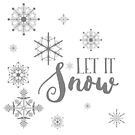 Elegant White and Gray Let it Snow Abstract snowflakes by artonwear
