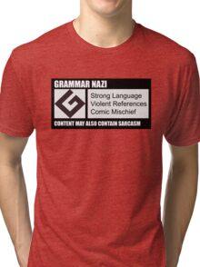 Grammar Nazi Tri-blend T-Shirt