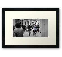 Clown in the crowd Framed Print