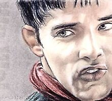 Colin Morgan miniature portrait by wu-wei
