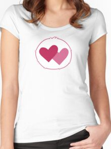 Care-a-lot Bear - Carebears - Cartoon Logo Women's Fitted Scoop T-Shirt