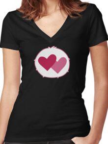 Care-a-lot Bear - Carebears - Cartoon Logo Women's Fitted V-Neck T-Shirt