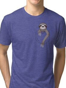 Pocket Sloth Tri-blend T-Shirt