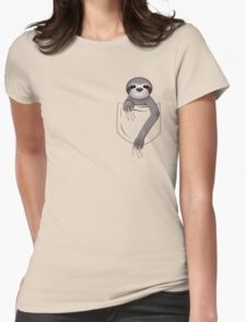 Pocket Sloth Womens Fitted T-Shirt