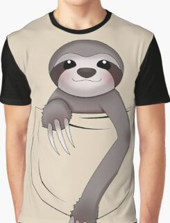 Pocket Sloth Graphic T-Shirt