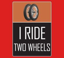 I Ride Two Wheels Kids Tee